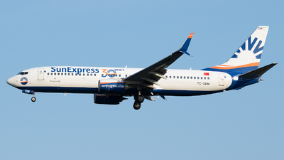 A picture of TCSEM - Boeing 7378HC - SunExpress - © Stefan Bayer