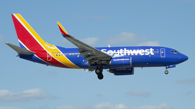 A picture of N257WN - Boeing 7377H4 - Southwest Airlines - © Juan Camilo Rojas