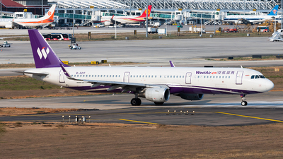 A picture of B321T - Airbus A321211 - West Air - © Lazy Clutch