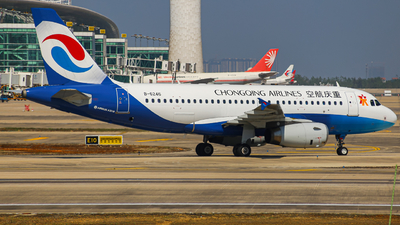A picture of B6246 - Airbus A319133 - Chongqing Airlines - © ZHHH-AIR