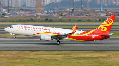 A picture of B1995 - Boeing 73784P - Hainan Airlines - © BCG554
