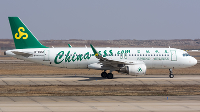 A picture of B8012 - Airbus A320214 - Spring Airlines - © BobH