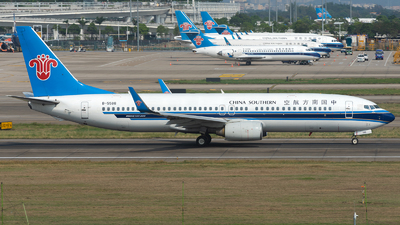 A picture of B5586 - Boeing 73786J - China Southern Airlines - © ZGGG RWY01