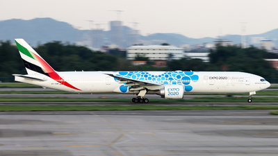 A picture of A6EGB - Boeing 77731H(ER) - Emirates - © Danny-Long