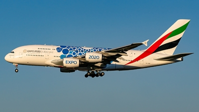 A picture of A6EOD - Airbus A380861 - Emirates - © S. Waki