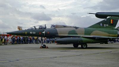BD-03 - Dassault Mirage 5BD - Belgium - Air Force