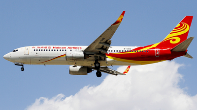 A picture of B5416 - Boeing 73784P - Hainan Airlines - © wangpaul