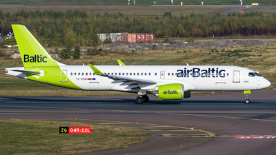 A picture of YLCSD - Airbus A220300 - Air Baltic - © Mikko Heiskanen