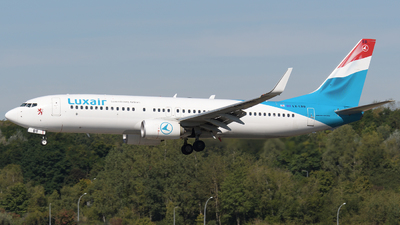 A picture of LXLBB - Boeing 73786J - Luxair - © Tom Mousel