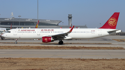 A picture of B1646 - Airbus A321211 - Juneyao Airlines - © Helloeddie