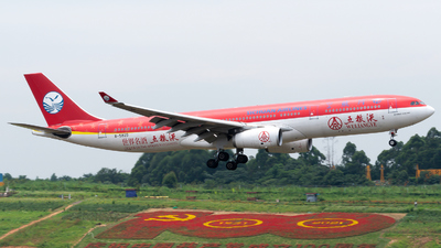 A picture of B5929 - Airbus A330343 - Sichuan Airlines - © zhangmx969
