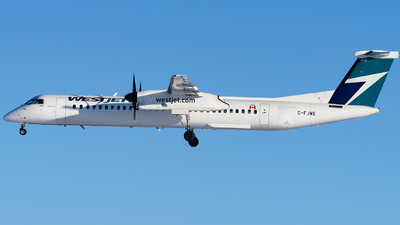 A picture of CFJWE - De Havilland Canada Dash 8400 - WestJet - © EYin