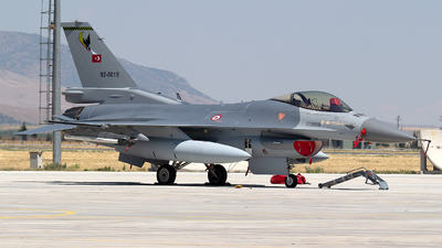 92-0015 - General Dynamics F-16C Fighting Falcon - Turkey - Air Force