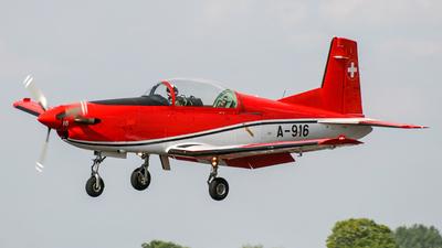 A-916 - Pilatus PC-7 - Switzerland - Air Force