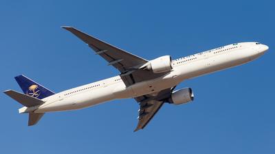 A picture of HZAK24 - Boeing 777368(ER) - Saudia - © Faraz Ali