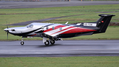 A picture of HBFQW - Pilatus PC12/47E - Pilatus Flugzeugwerke - © Ian Howat