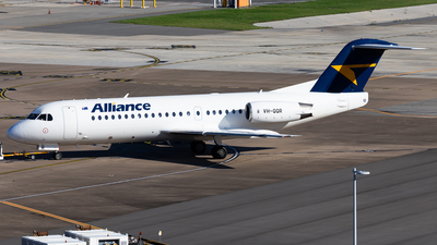A picture of VHQQR - Fokker 70 - Alliance Airlines - © Brandon Giacomin