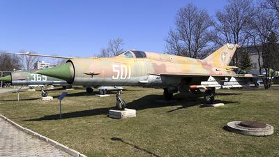 501 - Mikoyan-Gurevich MiG-21F-13 Fishbed C - Bulgaria - Air Force