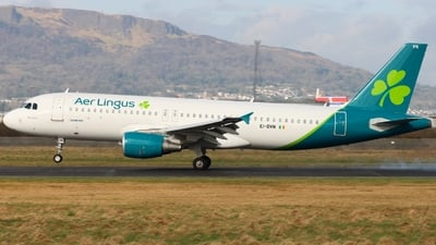 A picture of EIDVN - Airbus A320214 - Aer Lingus - © Ethan Allen