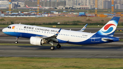 A picture of B302K - Airbus A320251N - Chongqing Airlines - © diqin265