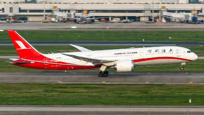 A picture of B1112 - Boeing 7879 Dreamliner - Shanghai Airlines - © Smiling PVG