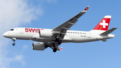 A picture of HBJBG - Airbus A220100 - Swiss - © Yang Qize
