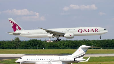 A picture of A7BEN - Boeing 7773DZ(ER) - Qatar Airways - © AvA