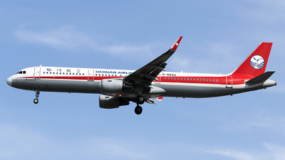 A picture of B8605 - Airbus A321211 - Sichuan Airlines - © ceci wong