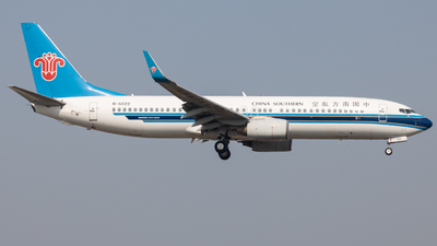 A picture of B5022 - Boeing 73781B - China Southern Airlines - © Wenbin Lin