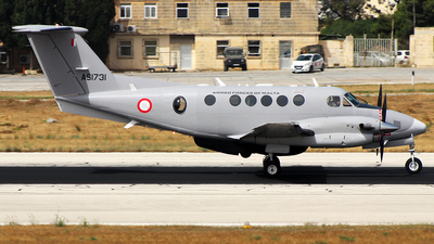 AS1731 - Beechcraft B200GT Super King Air - Malta - Armed Forces