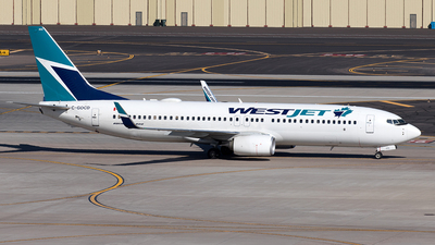 A picture of CGOCD - Boeing 7378CT - WestJet - © Yixin Chen