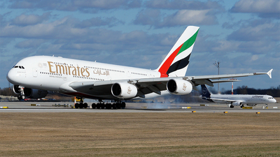 A picture of A6EDG - Airbus A380861 - Emirates - © Hugo Schwarzer