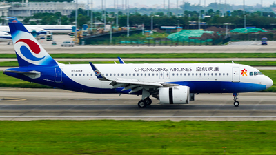 A picture of B305M - Airbus A320251N - Chongqing Airlines - © ZGGG-Highwing