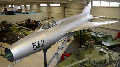 542 - Mikoyan-Gurevich MiG-21F-13 Fishbed C - Yugoslavia - Air Force
