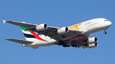 A picture of A6EEY - Airbus A380861 - Emirates - © Jerry.H