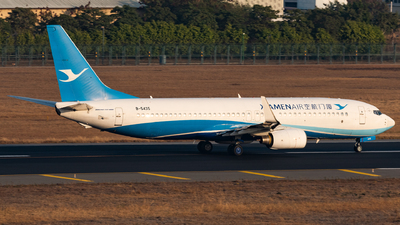 A picture of B5435 - Boeing 73786N - Xiamen Air - © AndySpotter