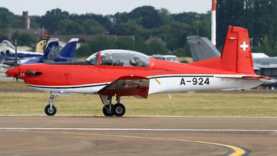 A-924 - Pilatus NCPC-7 - Switzerland - Air Force