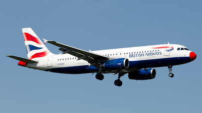 G-EUUC - Airbus A320-232 - British Airways