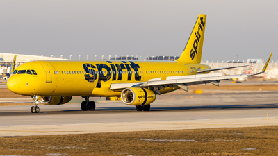 A picture of N682NK - Airbus A321231 - Spirit Airlines - © Haocheng Fang