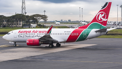 5Y-KQG - Boeing 737-7U8 - Kenya Airways