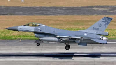 6691 - General Dynamics F-16AM Fighting Falcon - Taiwan - Air Force