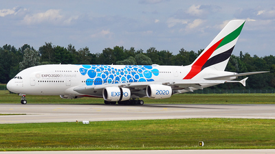 A picture of A6EVH - Airbus A380842 - Emirates - © Jan Eisenkolb