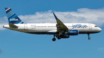 A picture of N821JB - Airbus A320232 - JetBlue Airways - © Hector Rivera - Puerto Rico Spotter