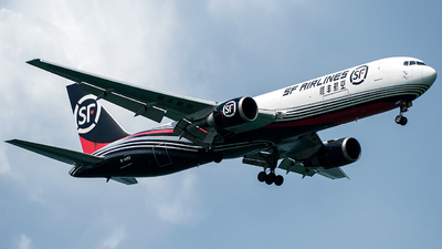 A picture of B1423 - Boeing 767338(ER)(BCF) - SF Airlines - © MHJ PHOTOS