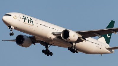 A picture of APBHV - Boeing 777340(ER) - Pakistan International Airlines - © AirlinerSpotter