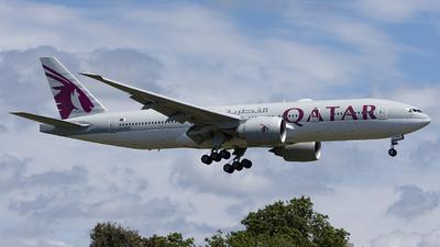 A picture of A7BBH - Boeing 7772DZ(LR) - Qatar Airways - © Daniel Veronesi - RomeAviationSpotters