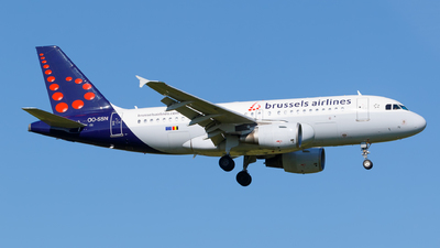 A picture of OOSSN - Airbus A319112 - Brussels Airlines - © Matteo Lamberts