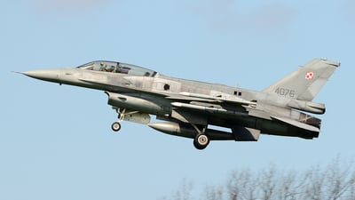 4076 - Lockheed Martin F-16D Fighting Falcon - Poland - Air Force
