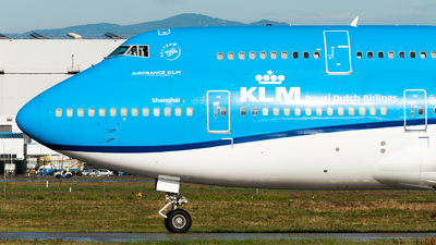 A picture of PHBFW - Boeing 747406(M) - KLM - © Calvin Chu