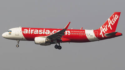 A picture of VTSIN - Airbus A320216 - AirAsia - © Akshay M